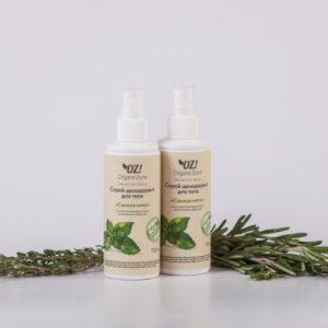 Дезодорант для тела с эфирными маслами Свежая мята
