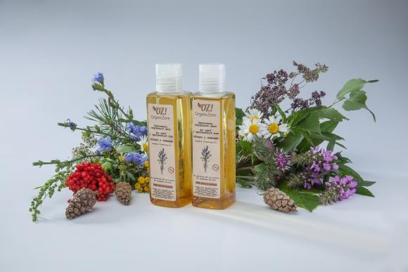 Органическое гидрофильное масло для сухой и чувствительной кожи Сандал и лаванда