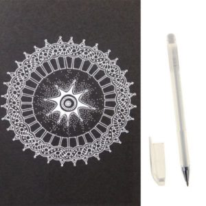 Ручка гелевая белая для разметки на теле