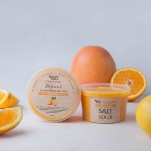 Соляной скраб для тела Апельсин