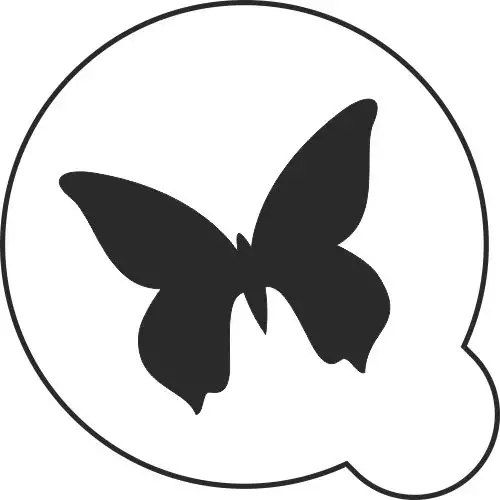 Трафарет многоразовый, пластиковый. Бабочка.