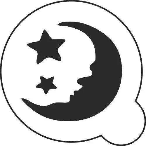 Трафарет многоразовый, пластиковый. Луна и звезды